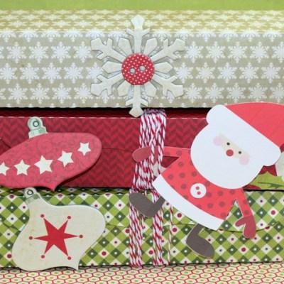 Silhouette Christmas Santa Box Stack