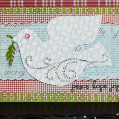 Holiday Cards Blog Hop – Scandinavian Cricut Cartridge Dove Card