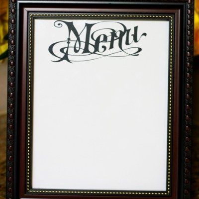 Vinyl Dry Erase Menu Board – Lori Whitlock Design Team Post