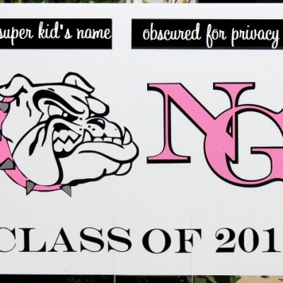Vinyl Bulldog Graduation Sign with Sizzix Eclips