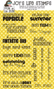 Pun in the Sun Stamp Set at JoysLife.com Products page. #joyslifestamps #joyslife