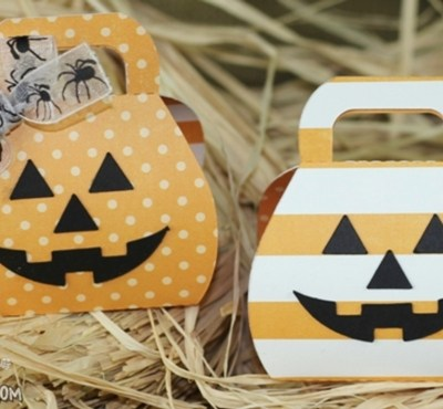 Halloween Pumpkin Box Treat Holders Lori Whitlock Design Team