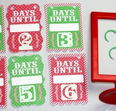 Photo Frame Hanging Advent Countdown Calendar – Lori Whitlock Blog Hop