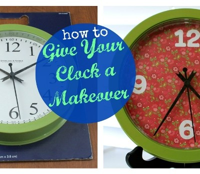 How to Give Your Clock a Makeover & Silhouette Clock Face Template Download