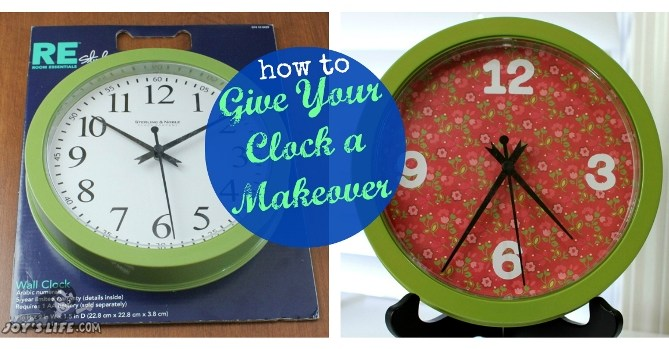 How to Give Your Clock a Makeover at www.joyslife.com - Silhouette Clock face download too!
