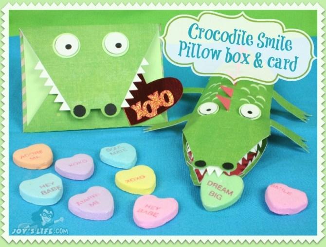 Crocodile Smile Pillow Box & Card at www.joyslife.com