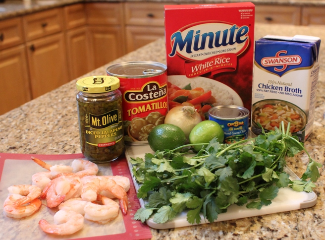 Shrimp with Green Chile Rice #LOVEEVERYMINUTE