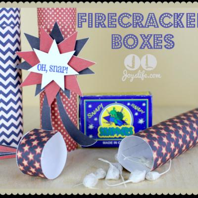 Red White & Blue Blog Hop Firecracker Boxes