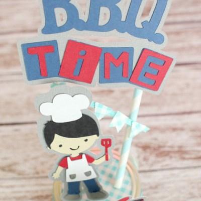 BBQ Decorated Mason Jar & Cricut Create a Friend Cartridge Giveaway