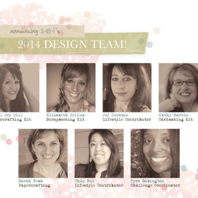 Woo hoo!  SEI's 2014 Design Team!!