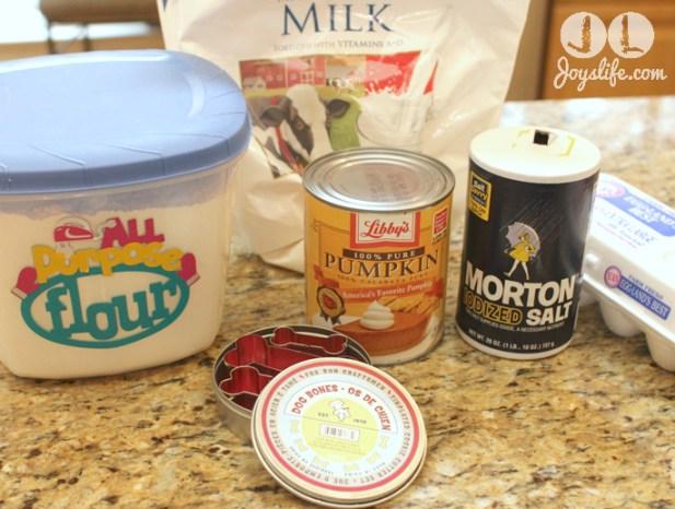pumpkin dog biscuits ingredients