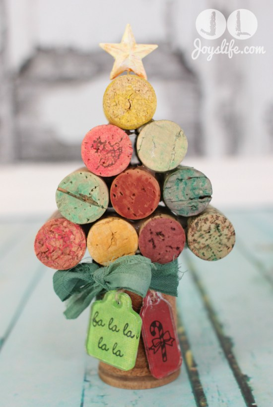 Wine Cork Christmas Tree.Wine Cork Christmas Tree With Faber Castell Joy S Life