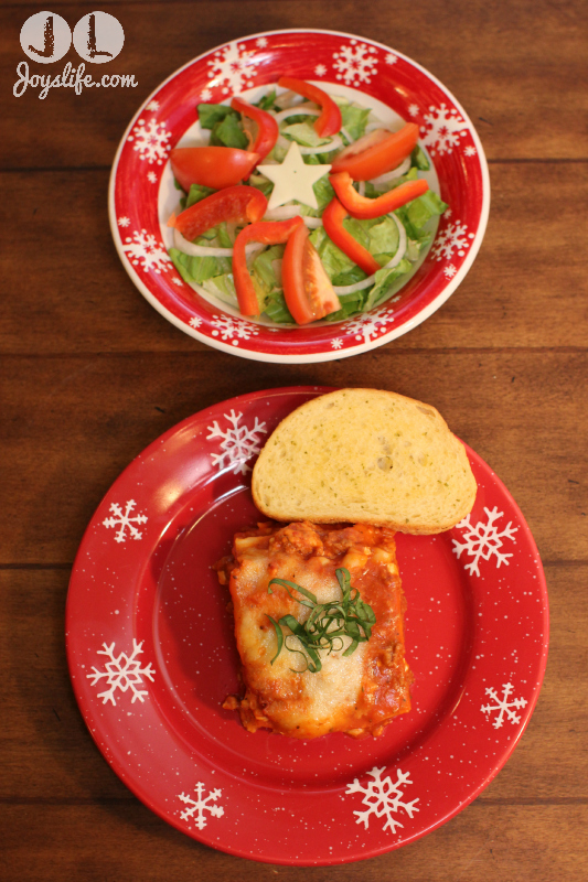Festive Holiday Lasagna Family Meal #PlanAhead #shop #cbias