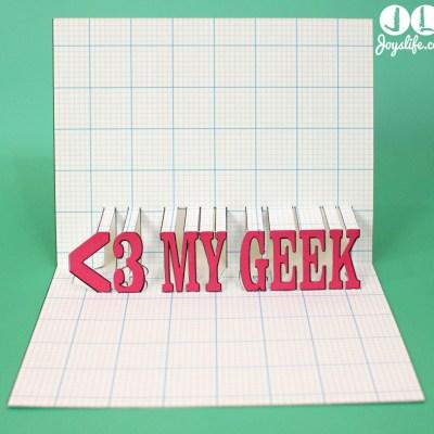 Popup Card Studio Software Heart My Geek 3D Card