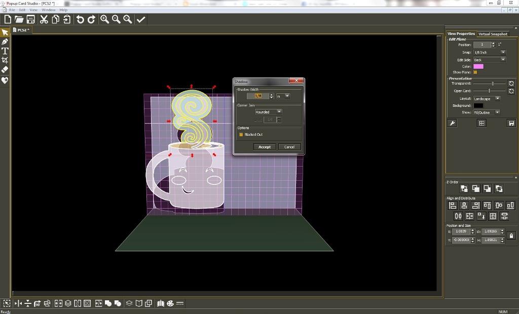 Popup Card Studio Software You're Brew-tiful 3D Card #PopupCardStudio #3D #LetteringDelights #ValentinesDay #card