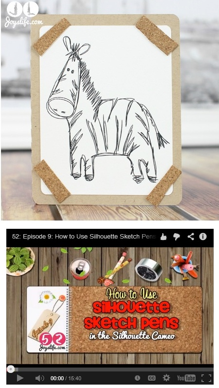 How to Use the Silhoutte Sketch Pens #SilhouetteCameo #SketchPens #tutorial