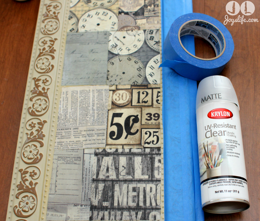 Tim Holtz Fabric Mod Podge Metal Sign
