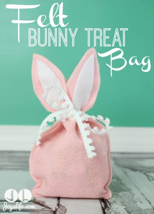 Felt Bunny Treat Bag Joy S Life