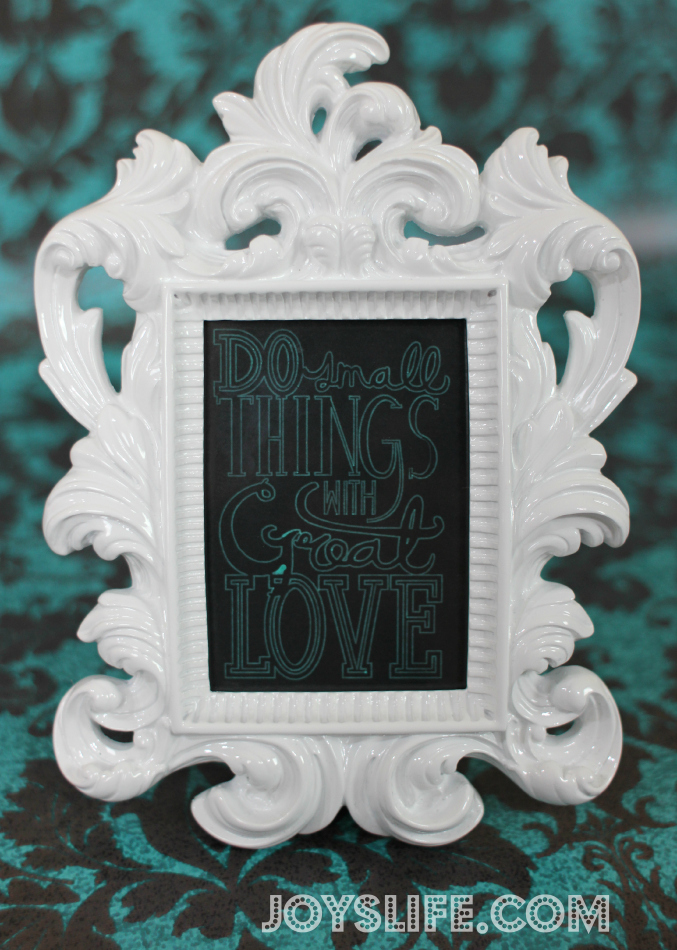 Create Silhouette Cameo Framed Great Love Quote with Amy Chomas Pen Holder + GIVEAWAY #SilhouetteCameo #AmyChomas #ChomasCreations #Giveaway #DIY #GreatLoveQuote