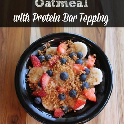 Red, White & Blue Oatmeal Protein Bar Recipe & My Gym Progress