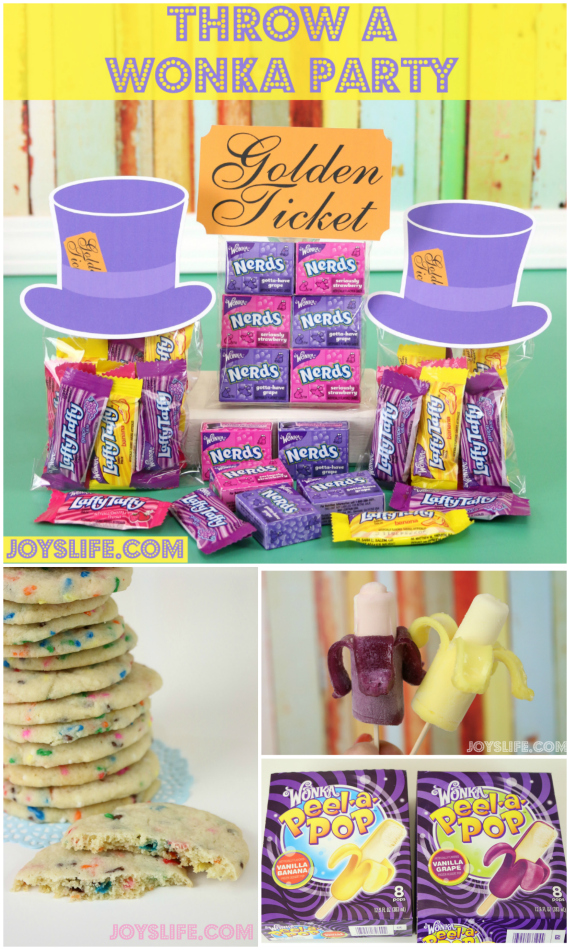 Wonkafy Your Party or Everyday with Wonka Peel-a-Pop #Wonka #Peelapop #WonkaParty #GoldenTicket
