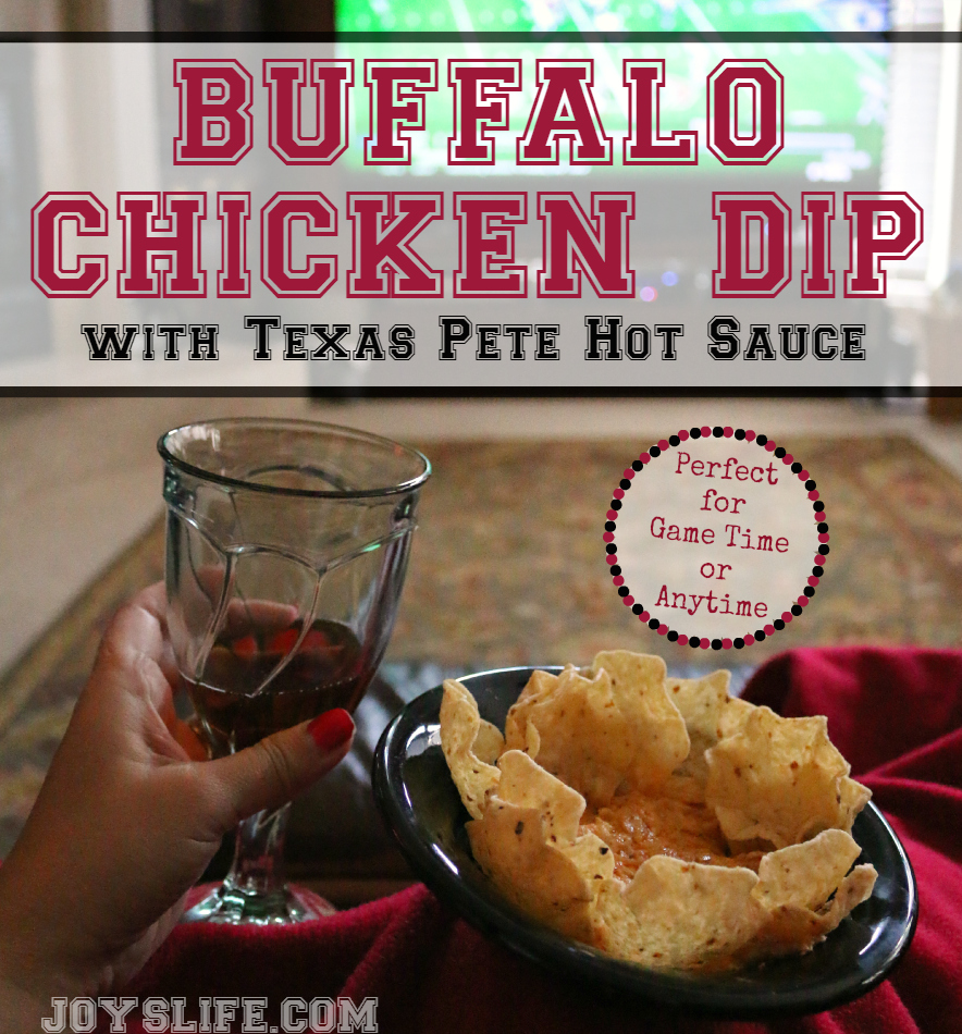 Buffalo Chicken Dip Recipe with Texas Pete Hot Sauce #TexasPete #ad #footballfood #recipe