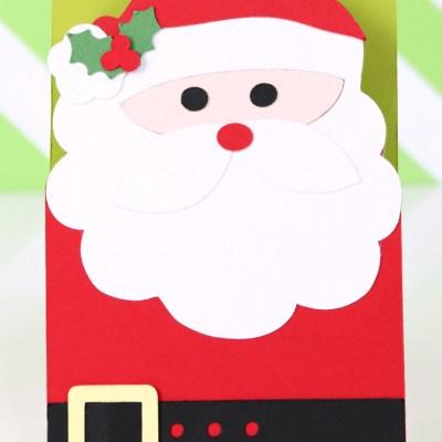 Quick & Easy Santa Card #Xyron #SilhouetteCameo #SilhouetteCameo2 #Christmas #Santa #30DaysOfXyron