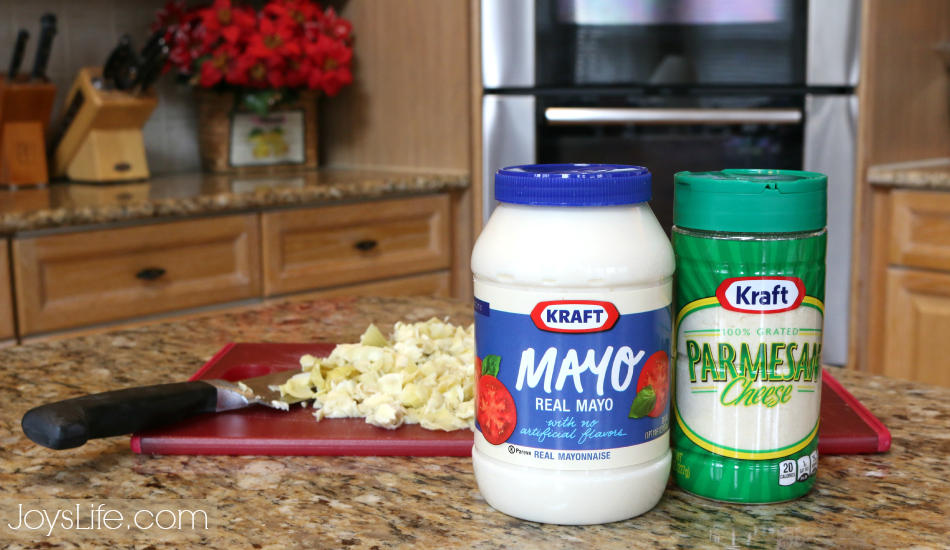 Delicious, Fast & Easy Hot Artichoke Dip Recipe #MustHaveMayo #ad #recipe