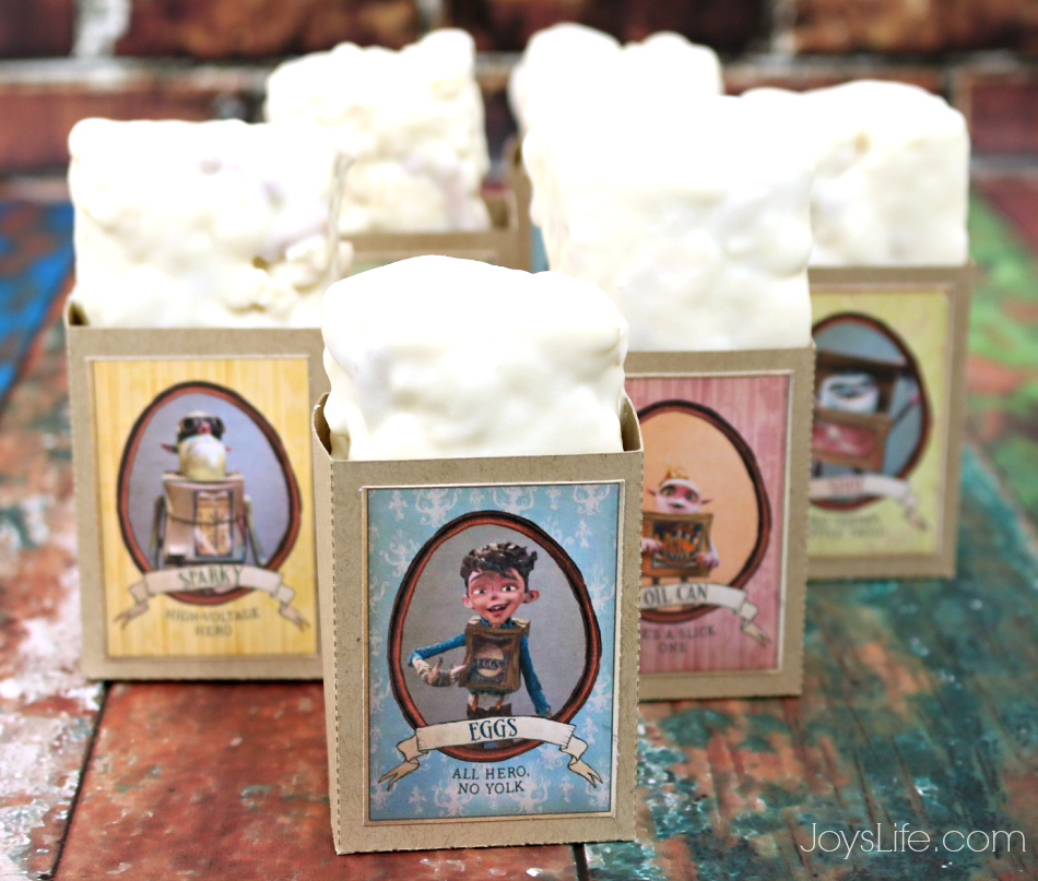 The Boxtrolls Family Movie Night & Marshmallow Pretzel Popcorn Bars Recipe #BoxtrollsFamilyNite #Pmedia #ad
