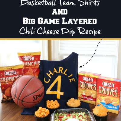 DIY Basketball Team Shirts & Big Game Layered Dip Recipe