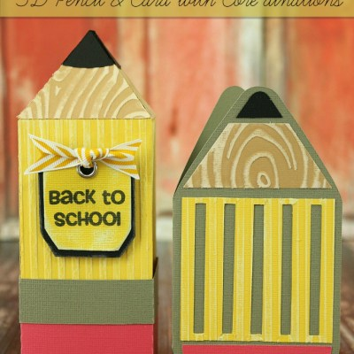 Back to School 3D Pencil & Card