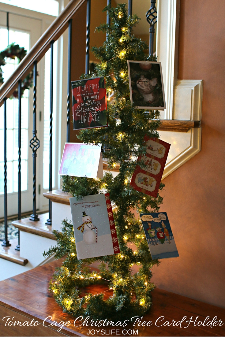 How To Make A Tomato Cage Christmas Tree Card Holder Joy