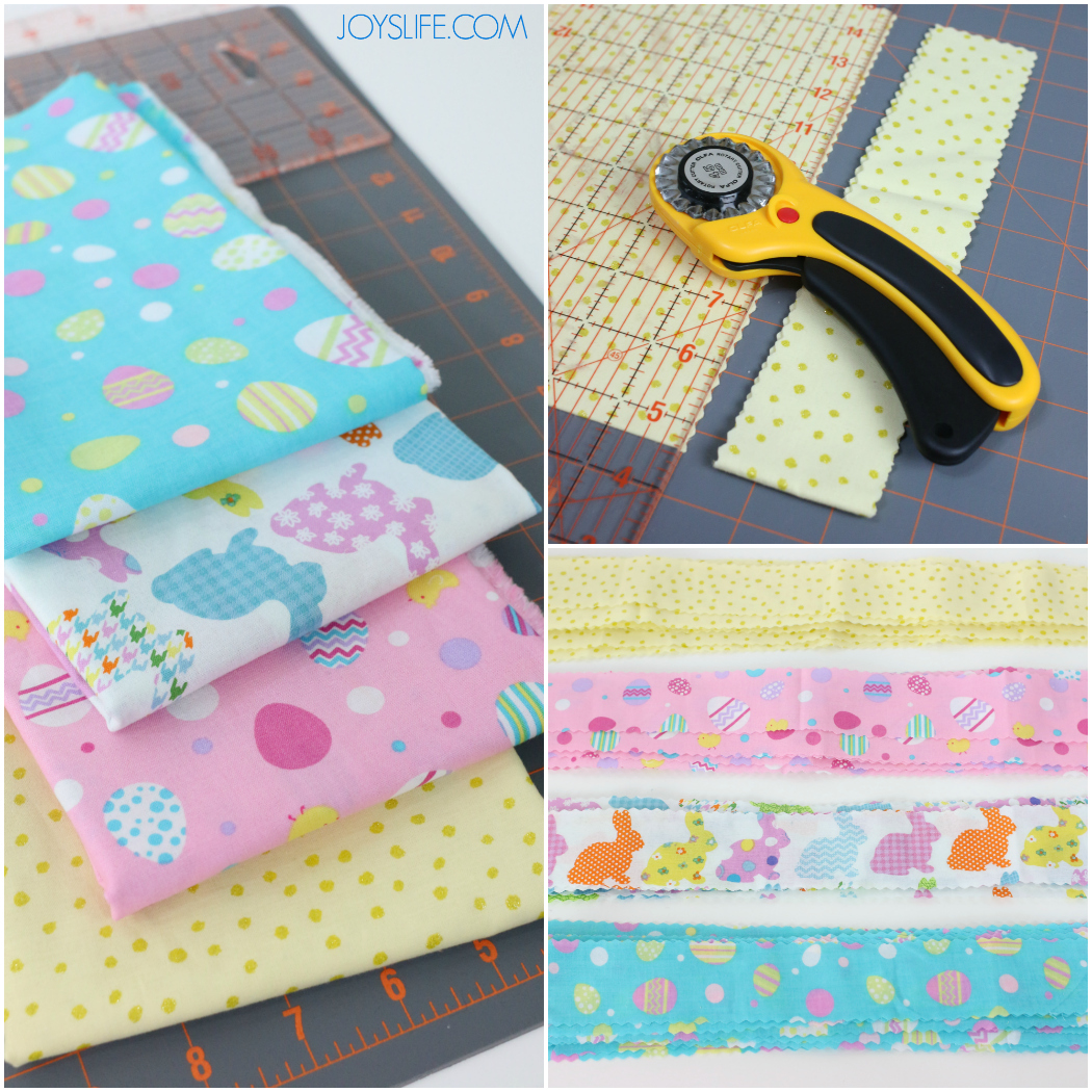 Cutting Fabric for the DIY Fabri and Rope Easter Basket