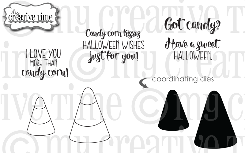 My Creative Time Candy Corn stamps metal dies