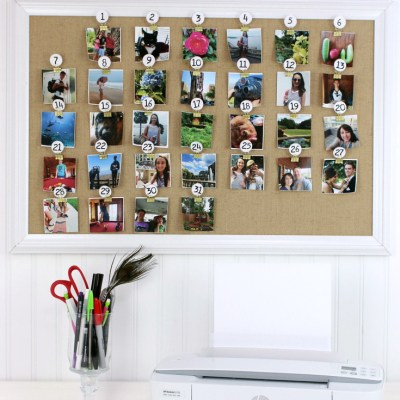 Make a Cork Board Photo Calendar