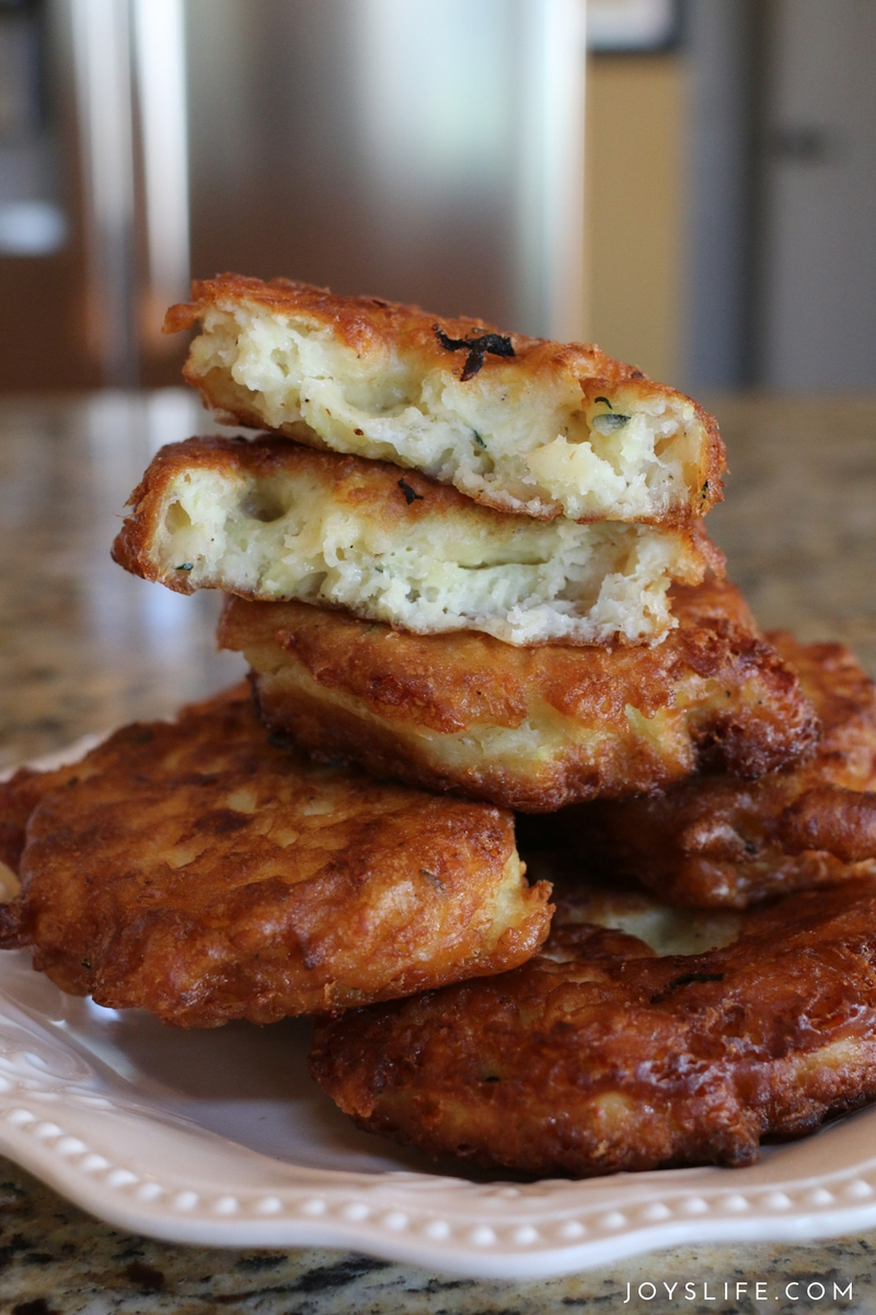 fried zucchini fritters all