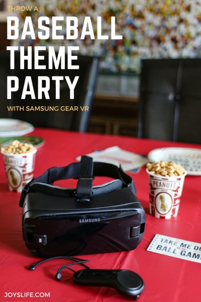 baseball theme party with samsung gear vr Intel True VR app