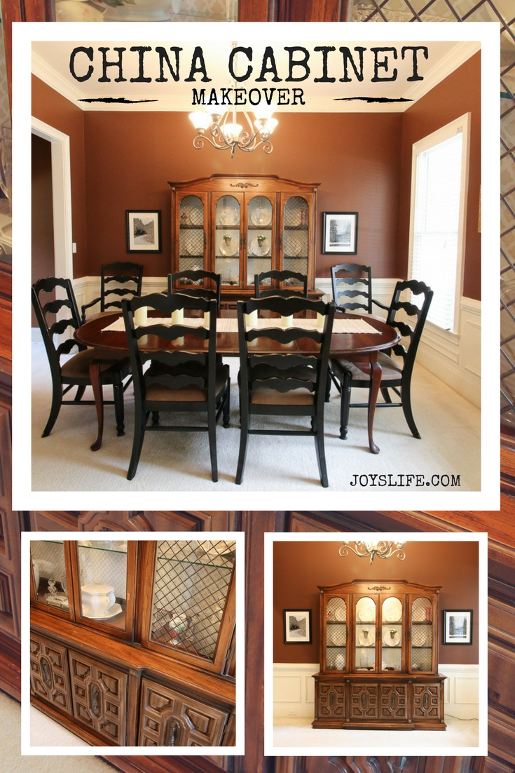 China Cabinet Makeover BEFORE