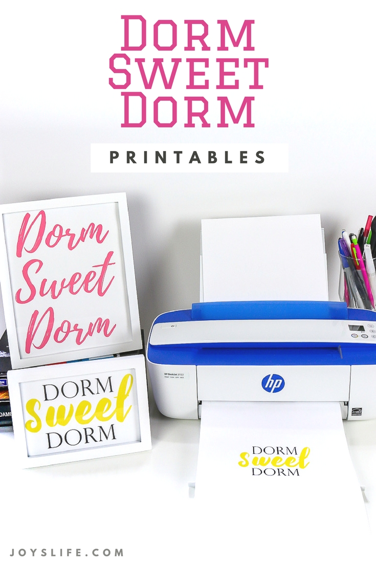 Dorm Sweet Dorm Printables with HP