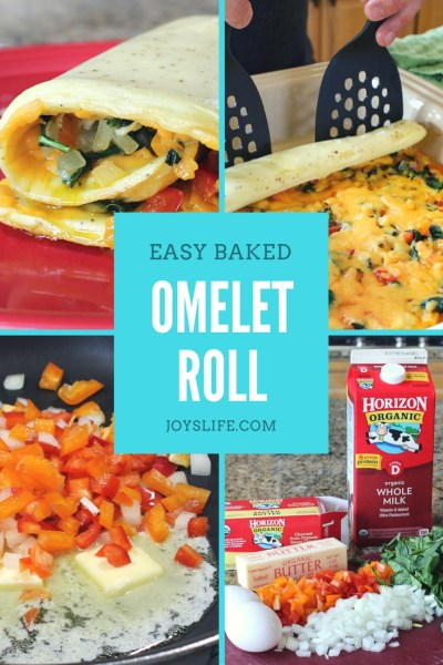 Easy Baked Spinach Omelet Roll