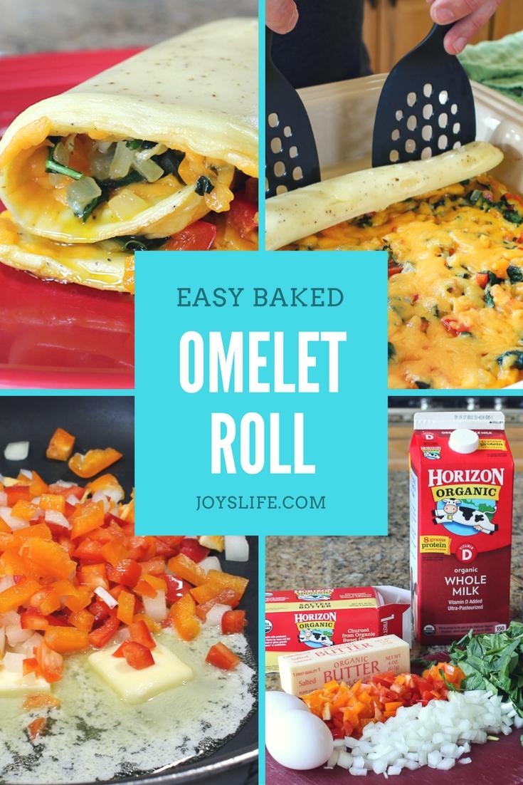 easy baked omelet roll steps