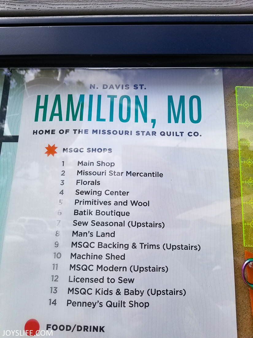 Missouri Star Hamilton MO Store Map