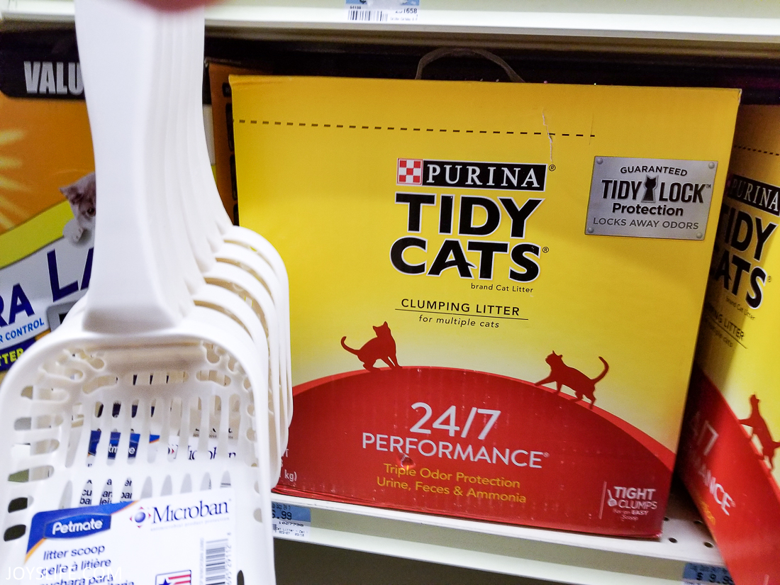 Purina Tidy Cats Litter on shelf at TSC