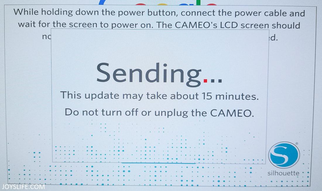 Silhouette Firmware update sending