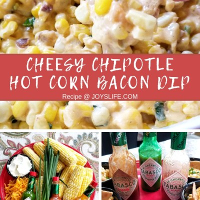 Cheesy Chipotle Hot Corn Bacon Dip