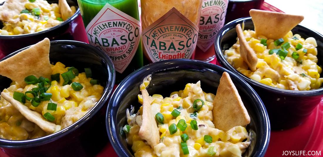 tabasco hot corn dip appetizers