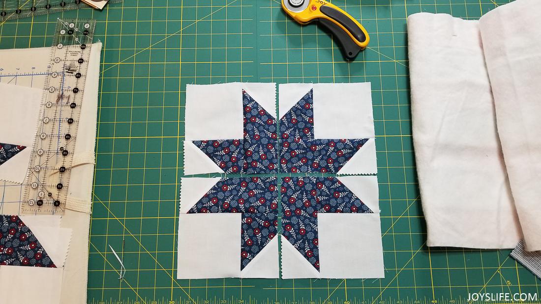 star quilt block pieces
