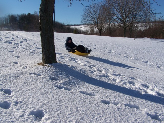 together fun sledding