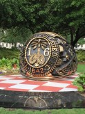 Military College Ring - front