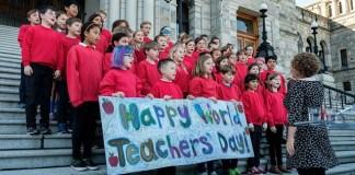 세계 선생님의 날 BC주 의사당앞
